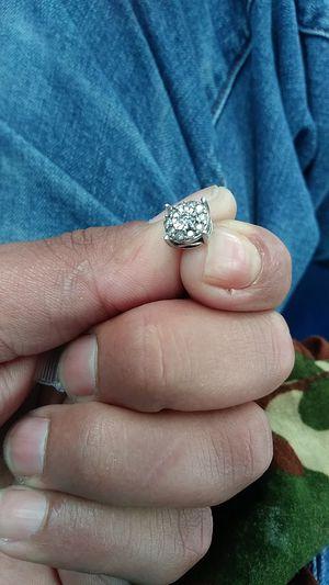 Sterling silver 13 diamond stud earring for Sale in San Antonio, TX