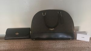 Coach sig Sierra purse with matching wallet for Sale in Hilliard, OH