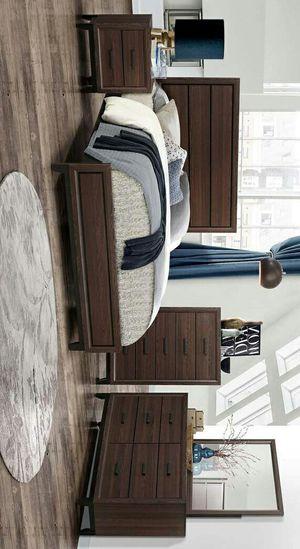 Shiloh Brown Queen Panel Bedroom Set | SH176 ask king size bedroom set juego de dormitorio for Sale in Grand Prairie, TX