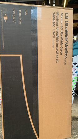 """LG 34""""CURVED ultra wide monitor for Sale in Brooks,  OR"""