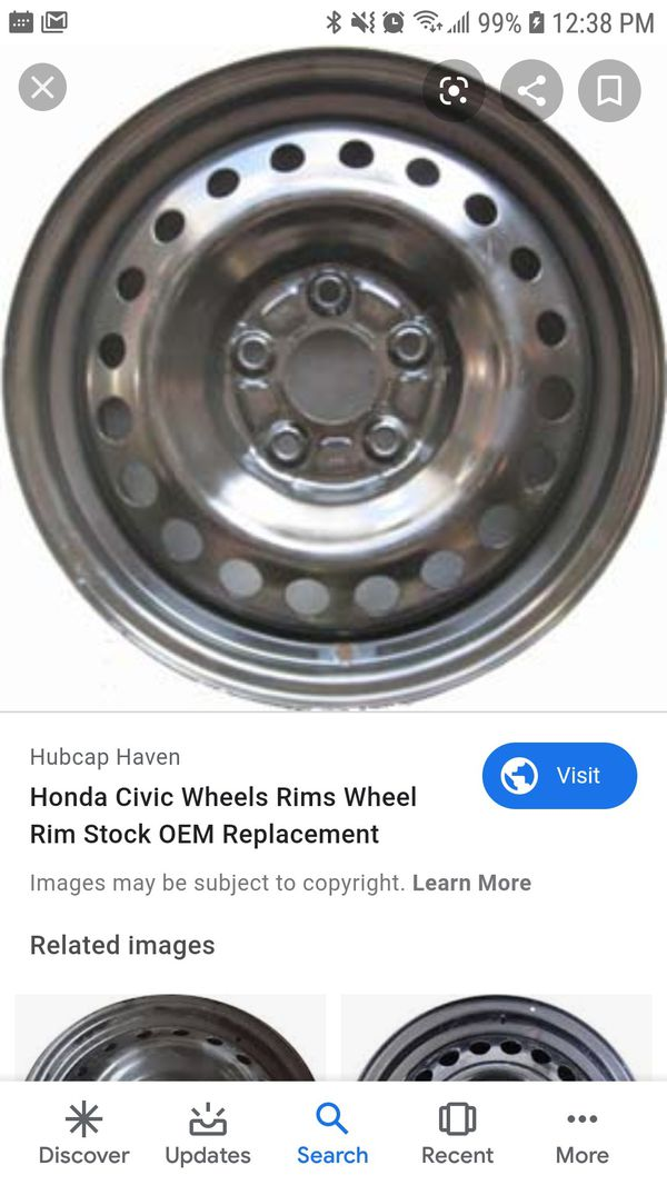2006,2007,2008,2009,2010 Civic Steel Wheel Rim I have full set