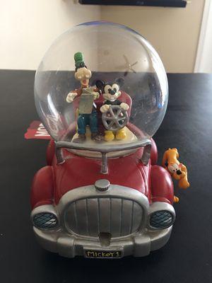 Disney Snow globe Mickey Mouse Goofy Pluto Car Road Trip Figure Statue As Is-$35.00 for Sale in Phoenix, AZ