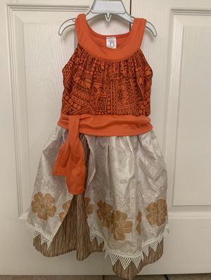 Moana dress by Little Adventures (Size medium 3-5 years) for Sale in San Diego, CA