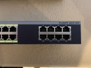 Netgear Prosafe JGS516PE POE Switch for Sale in Chula Vista, CA