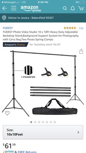 New in box heavy duty photo backdrop stand for Sale in Bakersfield, CA