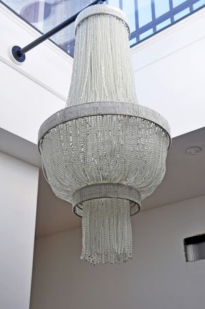"""Beautiful French Art Deco/Gatsby style chandelier. 40"""" x 20"""" for Sale in Alexandria, VA"""