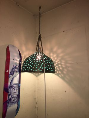 Teal Hanging lamp for Sale in Austin, TX