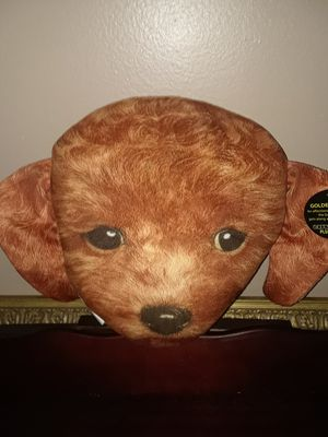 Soft plush golden doodle pillow for Sale in Melbourne Village, FL