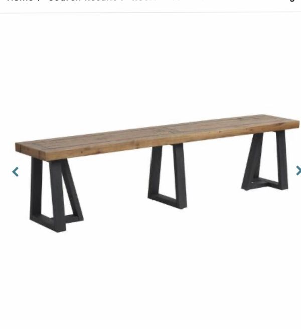 Reclaimed pinewood dining room bench
