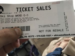 2 camel back lift tickets for Sale for sale  Point Pleasant Beach, NJ