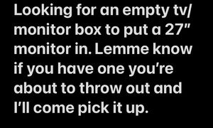 "empty tv/monitor box 27""-32"" for Sale in Columbia, SC"