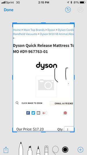 Dyson original vacuum cleaner parts for Sale in San Diego, CA
