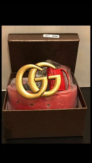 Red gucci belts for Sale in Palm Beach, FL