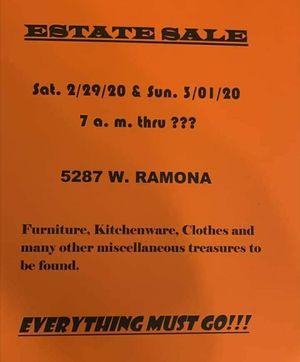 Estate sale 2/29 for Sale in Fresno, CA