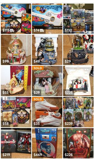 100's of collectibles for sale disney star wars marvel precious moments snowglobes statues print art for Sale in Pflugerville, TX