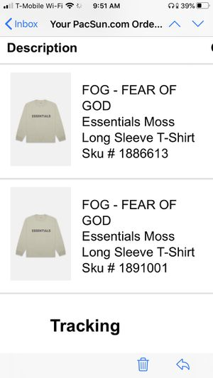 Moss Essentials Long sleeve FOG for Sale in Cypress, CA