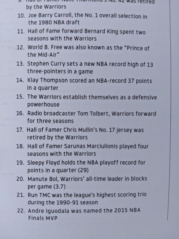 Warriors Ticket Stubs 2018-2019 (Last season at Oracle)