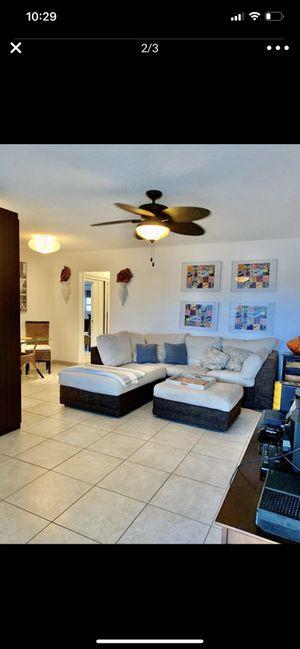 Sofa sectional con ottoman for Sale in Miami, FL