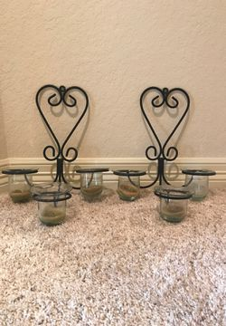 Two black metal sconces for Sale in Helotes,  TX