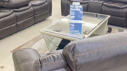Brand New Brown Leather Manual Reclining 3pcs Sofa Set . $39 Down Payment For No Credit Check Financing . $68 Weekly Payment And Easy Approval for Sale in North Richland Hills,  TX
