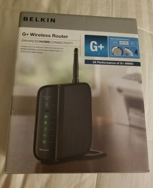 Belkin +G wireless Router 2xs performance of G+ MIMO for Sale in Des Plaines, IL