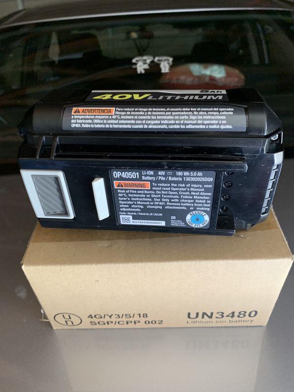 Ryobi battery 40 volt brand new never used