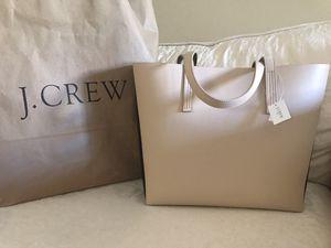 New J CREW Women's Color Block Bag Tote Creme/Navy for Sale in Nuevo, CA