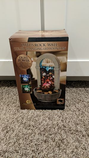 Lotus rock wall color changing LED fountain for Sale in Chandler, AZ