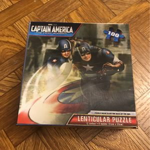Captain America Lenticular Puzzle for Sale in Indianapolis, IN