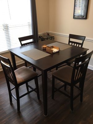 5-piece Counter Height Dinning Set Cappuccino & Tan for Sale in Durham, NC