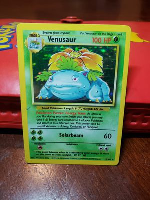 Pokemon Venasaur Holo Card for Sale in Los Angeles, CA