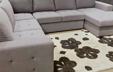 New‼️🎊🎉 4 Pcs Gray Sleeper Sectional Sofa • SAME DAY Delivery 🚚⚡ • FREE Financing 🔥 NOT CREDIT CHECK ‼️ • Apply Online Now!! Easy & Fast for Sale in Las Vegas,  NV