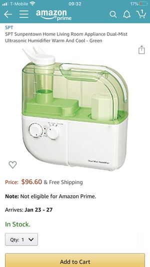 Dual mist humidifier for Sale in Tacoma, WA