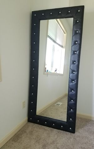 Tufted Leather Mirror for Sale in Vancouver, WA