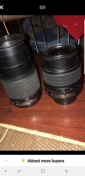 2 Nikon camera lenses for Sale in Stockton, CA