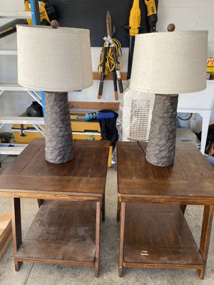 End tables and lamps for Sale in Sacramento, CA