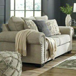 $39 DOWN Zarina Jute Living Room Set /Sofa And Loveseat price for Sale in Silver Spring, MD