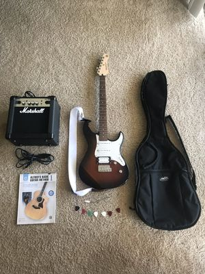 Yamaha Electric Guitar & Marshall Amp (with Accessories) for Sale in University, VA