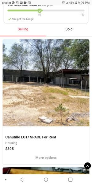 Mobil/ TRAILER home LOT in Canutillo for Sale in El Paso, TX
