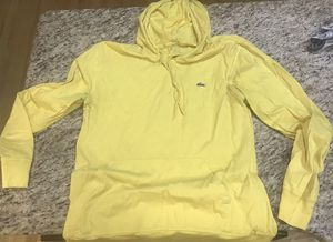 Lacoste yellow light weight hoodie shirt size 5 for Sale in Palmetto, GA