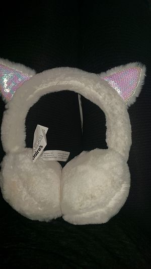 White cat ear muffs for Sale in Camp Hill, PA