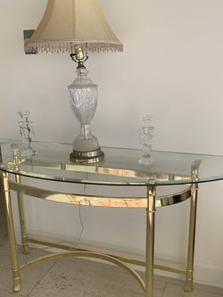 Gold And Glass Vintage Console Table for Sale in Los Angeles,  CA