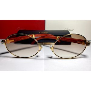 New Cartier Gold Wood Oval Frame Eyeglasses Glasses for Sale in Windsor, CT