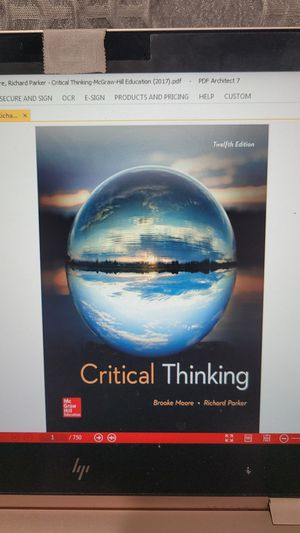 Critical Thinking 12th edition for Sale in Lakeside, CA