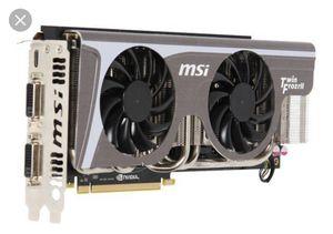 MSI Nvidia GeForce N580 GTX Twin Frozr II for Sale in Flagstaff, AZ