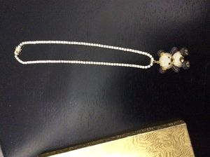 Diamond chain with diamond teddy bear pendant for Sale in Columbus, OH