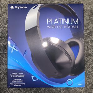 Sony Platinum Wireless Headset PS4 for Sale in Riverside, CA