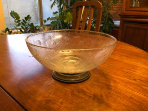 Antique bowl with sterling silver base for Sale in Phoenix, AZ