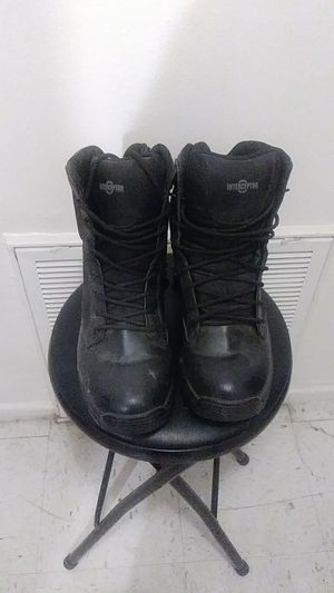 Men's Tactical Work Boots With A Zipper On The Side for Sale in Brawley, CA