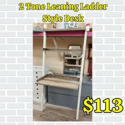 NEW 2 Tone Leaning Ladder Style Desk: Njft Office for Sale in Burlington,  NJ